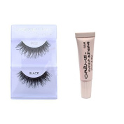 6 Pairs Creme 100% Human Hair Natural False Eyelash Extensions Black #605 Dark Long Lashes by Cr.........................me