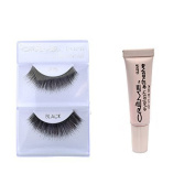 6 Pairs Creme 100% Human Hair Natural False Eyelash Extensions Black #76 Dark Full Lashes by Cr.........................me