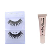 6 Pairs Creme 100% Human Hair Natural False Eyelash Extensions Black #61 Dark Long Lashes by Cr.........................me