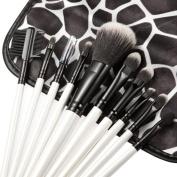 Tonsee 10pcs Stone Pattern Markings Cosmetic Makeup Professional Foundation Brushes Set Kit