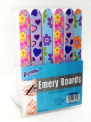 Lot of 48 18cm Emery Boards Nail Files on Counter Display Retail Ready by Dependable