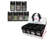 French Tip Artificial Nails Counter Top Display Set of 48