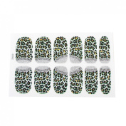 Lady 12 Pcs Leopard Printed Bling Nail Wrap Foils Art Sticker Decorative Decals