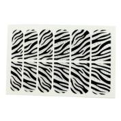 lady Glitter Black White Device Nail Art Stickers Tip Decortion 12 Pcs
