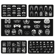 Stainless DIY Nail Art Image Stamping Plate Stamp Image Template