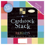 (Price/1)Die Cuts With A View 632620 Match Makers Textured Brights Cardstock Stack 30cm X