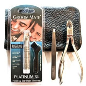 ApeX Grooming Kit for Men with the Groom Mate Platinum XL Nose Hair Trimmer and Ear Hair Trimmer Lifetime Guarantee