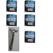 Double Edge Razor Handle + 50 Wilkinson Sword Classic Double Edge Safety Razor Blades