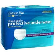 Sunmark Entrust Plus Disposable Protective Underwear Super Absorbency Small/Medium - 4 pks of 18ct