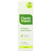 Cleanwell All-Natural Hand Sanitizer Original Scent, Pocket Size, 30ml Spray Bottles