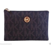 Michael Kors Signature Fulton Wallet Travel Clutch PVC PhoneCase Purse Brown