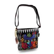 Laurel Burch Blossoming Feline Colourful Cross Body Bag Purse