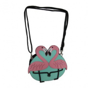 Sleepyville Critters Flamingo Love Cross Body Purse