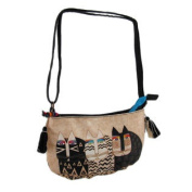 Laurel Burch Wild Cats Canvas Cross Body Purse