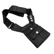 Napa Leather Black Shoulder Holster Travel Wallet
