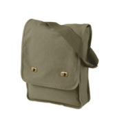 410ml Pigment-Dyed Canvas Field Bag - KHAKI GREEN - OS - 1902