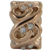 Eligo - Rose Gold Stainless Steel Slide-On Charm for Eligo/Endless Leather Bracelets EHCR009