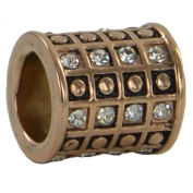 Eligo - Rose Gold Stainless Steel Slide-On Charm for Eligo/Endless Leather Bracelets EHCR012