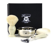 GILLETTE MACH 3 RAZOR WITH BADGER SHAVING BRUSH SHAVE SOAP AND BOWL GIFT SET Gift Ideas for men Dad Granddad Christmas secret Santa