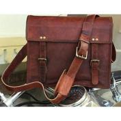 Hlc Genuine Men's Auth Real Leather Messenger Laptop Briefcase Satchel Mens Bag