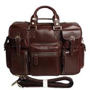 Polare Men's Handmade Genuine Italian Oil Leather Messenge Shoulder Travel Bag Business Briefcase