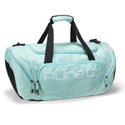 Runetz - TEAL Hot Blue Gym Bag Athletic Sport Shoulder Bag for Men & Women Duffel 50cm Large - Teal