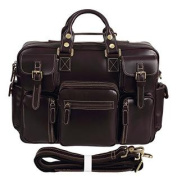Polare Mens Italy Oil Thick Leather Messenge Shoulder Travel Bag Satchel Laptop Cases