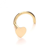 9ct Gold Nose Stud - Flat Heart
