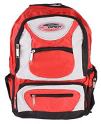 Rucksack 36 Litres Sky Express with 7 Pockets Multicolour red / black