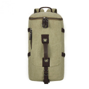 Snug Star Retro Cotton Canvas Cylindrical Travel Backpack Single Shoulder Bag Cross Bag Messenger Bag Duffel Bag Gym Bag Weekend Bag for Men and Women