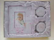 ITS A GIRL picture frame with my first curl & tooth box