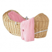 Luxury British Made Izzy Pod Noah Pod Pink Marshmallow Replacement Moses Basket Covers.