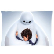 Custom Big Hero 6 Pillow Case Hiro Baymax 50cm x 80cm Two Sides Printed Pillowcase Sham Rectangle Cushion Case Cover by Basidfs