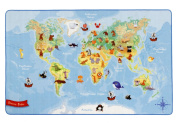 Böing Carpet, Böing Carpet World map rug, W-Map, 100 x 160 cm