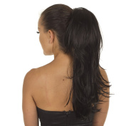 Black Elasticated Ponytail Hairpiece | Razor Cut Layered Hairpiece