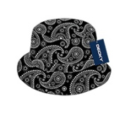 Decky 459-PL-BLK-07 Paisley Bucket Hat Black - Large & Extra Large