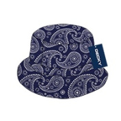 Decky 459-PL-NVY-07 Paisley Bucket Hat Navy - Large & Extra Large