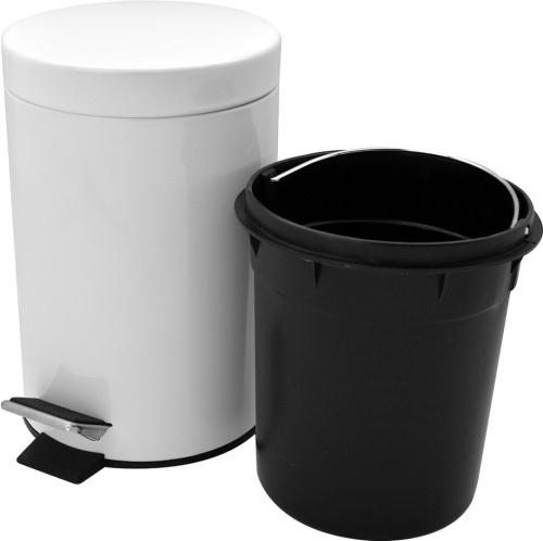 Harbour housewares bathroom pedal bin and toilet brush set for Bathroom bin and brush set