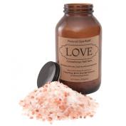 Love Aromatherapy Bath Salts - Romantic Blend with Ylang Ylang, Ho Wood, and Palmarosa