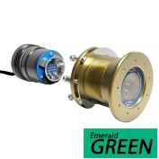 Bluefin LED Mako M12 - 24V Through Hull Underwater Light 6K Lumens Interchangeable Flush Mount - Emerald Green