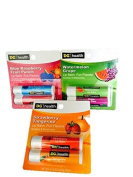 Lip Balm by DG health-Blue Raspberry/Fruit Punch,Watermelon/Grape & Strawberry/Tangerine-Soothes & Moisturises-Total 6 Lip Balms