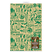 All Occasion Bigfoot Wrapping Paper by Accoutrements