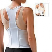 Cincher Women's Posture Back Brace Support Belt - White - Medium 34-100cm Hip by FLA Orthopaedics