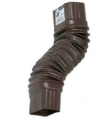 Amerimax Flex Elbow 5.1cm X 7.6cm Plastic Brown by Amerimax Home Products