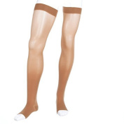 Medi Plus Thigh High 30-40mmHg With Silicone Beaded Band Petite Open Toe, I, BGE by Medi