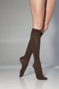 Sigvaris Women's Cotton Ribbed Knee High Socks 20-30mmHg Closed Toe Long Length, Medium Long, Black by Sigvaris
