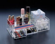Makeup Organiser, 2 Drawers, Boutique Tissue Section and Cotton Ball Compartment. by Acrylichomedesign