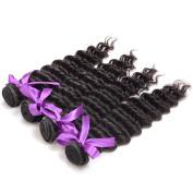 Deep Wave Remy Hair Bundles Peruvian Virgin Human Hair 4pcs Unprocessed Natural Hair Weft Mixed Length 18 20 22 24