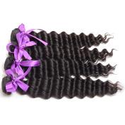 Peruvian Remy Human Hair Natural Deep Wave Virgin Hair Bundles 4pcs 16 18 20 22 Deep Curly Hair Weave
