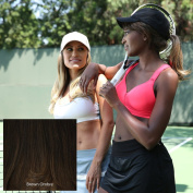 ADORNA CHIC Luxury 46cm Premium Synthetic Hair Extension - Dark Brown INCLUDES FREE COMPATIBLE AODRNA HAT